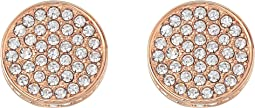 Clip Pave Circle Earrings
