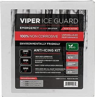 Salt Depot Viper Ice Guard NONCORROSIVE Emergency ICE Dam Removal, Ice Dam Prevention (Includes 1 Gallon Liquid Ice Melt, 10LB Shaker Jug ViperNAAC, 6 CMA Roof Rolls)