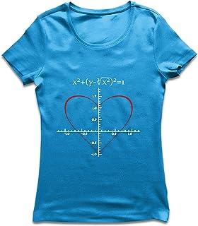 lepni.me Camiseta Mujer Fórmula de Matemáticas del Amor Ecuación matemática Regalo para el Profesor
