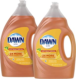 Dawn Antibacterial Dishwashing Liquid Dish Soap, Orange Scent, 56 Fl Oz, Pack Of 2(Packaging May Vary)