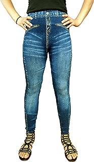 Women's Denim Jeggings Fashion Leggings One Size