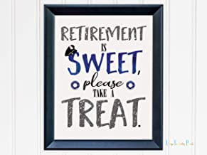 Retirement Is Sweet Please Take A Treat Police Officer Print By Always Yesterday Prints | Decor | Poster| Dessert Sign | Wall Art | Party Decor