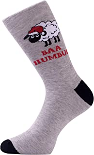 Men's Holiday Novelty Fun Dress Socks (Multiple Patterns to Select From)