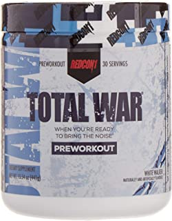 Redcon1 Total War - Pre Workout, 30 Servings, Boost Energy, Increase Endurance and Focus, Beta-Alanine, 350mg Caffeine, Citrulline Malate, Nitric Oxide Booster - Keto Friendly (White Walker)