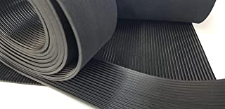 Rubber Sheet Warehouse Fine Rib V Groove Matting Non Slip Outdoor Rubber Mats. Amazing Non-Slip gripping Durable Quality. Excellent for Tool Box, Truck Bed, Grill Splatter Guard, Safety ramp and Boat