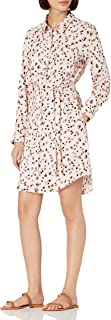 Amazon Brand - Daily Ritual Women's Georgette Long-Sleeve Button Down Shirt Dress