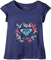 Roxy Kids Moid Flower Logo Tee (Toddler/Little Kids/Big Kids)