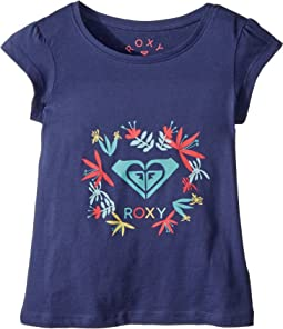 Roxy Kids - Moid Flower Logo Tee (Toddler/Little Kids/Big Kids)