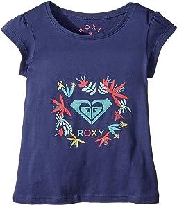 Roxy Kids - Moid Flower Logo Tee (Toddler/Little Kids/Big Kids)