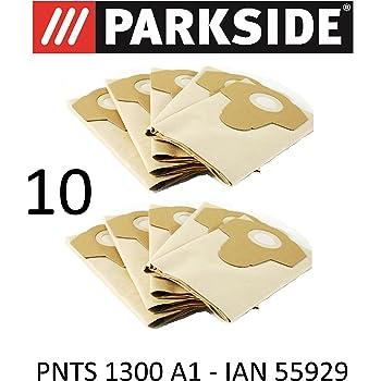 10 bolsas de aspiradora Parkside 20 L pnts 1300 A1 Lidl Ian 55929 ...