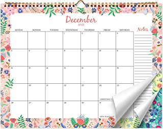 Sweetzer & Orange 2021 Calendar. 18 Month Office or Family Wall Calendar Jan 2021-June 2022 - Floral Border Monthly Planne...