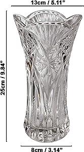 Vase en Verre Transparent (2Pcs) - 25cm Gros Vase en Verre - en Relief pour la Décorations Design de Mariage, dans Votre Salon, en Soirées - Idéal en Cadeau de Mariage et en Décoration d'Intérieur