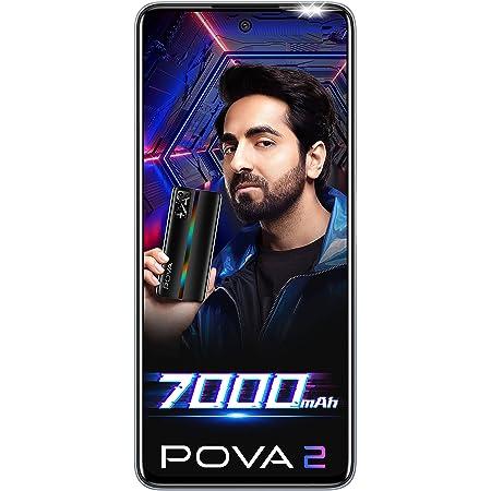 Tecno POVA 2 (Polar Silver, 4GB RAM, 64GB Storage)| 7000mAh Battery | 48MP Camera | Helio G85
