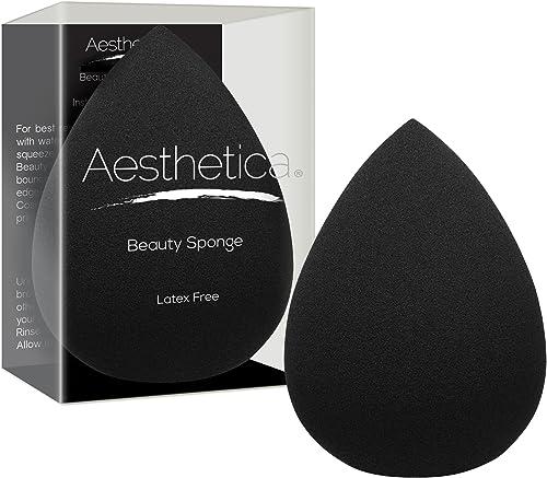 Aesthetica Cosmetics Beauty Sponge Blender - Latex Free and Vegan Makeup Sponge Blender - For Powder, Cream or Liquid...