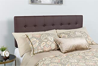 Flash Furniture Lennox Tufted Upholstered Full Size Headboard in Brown Vinyl - HG-HB1705-F-BR-GG