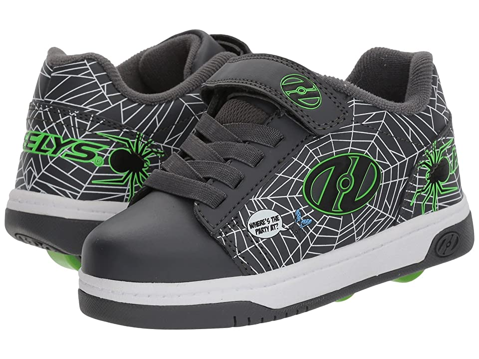 Heelys Dual Up x2 (Little Kid/Big Kid) (Grey/Lime/Webs) Boys Shoes
