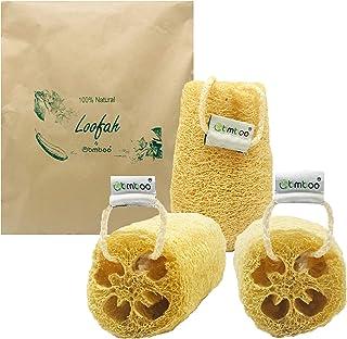 Esponja exfoliante 100% natural de lufa (3 paquetes sin inflar) – exfoliante corporal de lufa – esponja de lufa – esponja ...