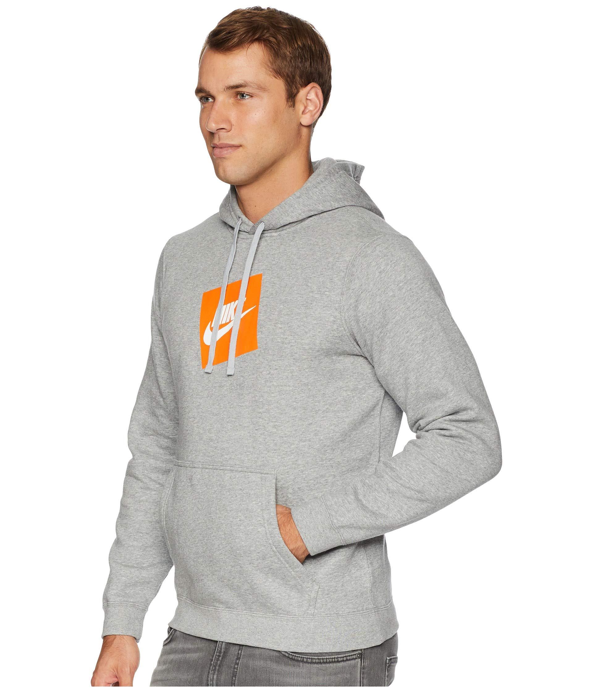 Grey Fleece Hoodie Nsw Pullover Heather Nike Dark Hybrid nSwYTSqI