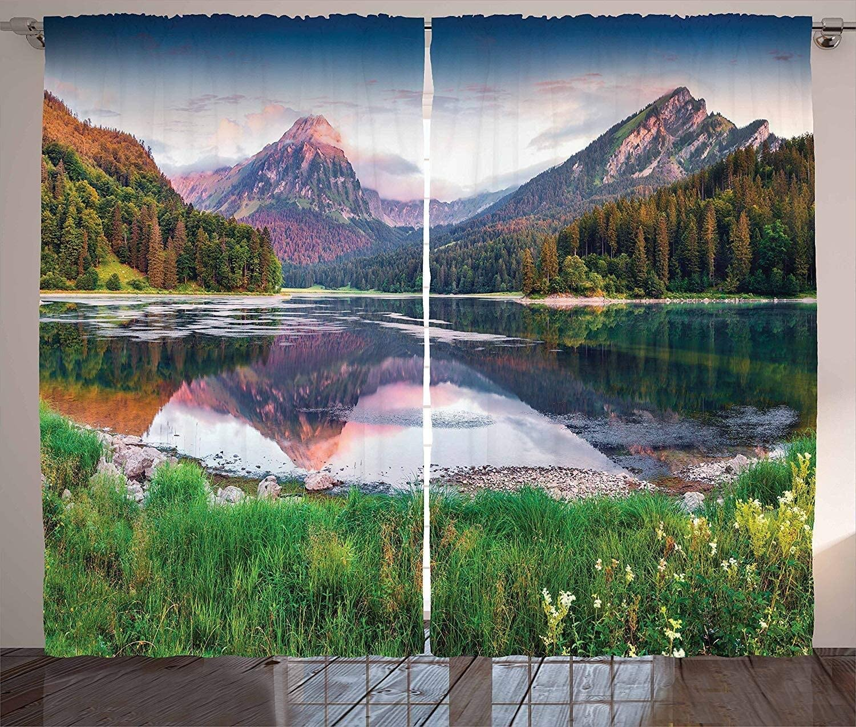 ZSPPPP Landscape Window Curtains Europe Many popular brands Sunrise Li Summer High quality new Scenic