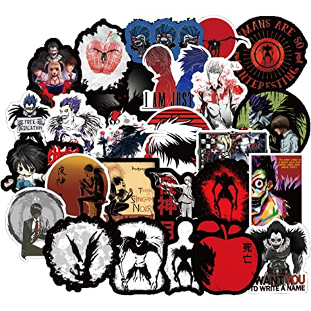 Death Note Stickers 50 Pcak Teens Stickers for Kids Anime Vinyl Waterproof Stickers for Laptop,Bumper,Water Bottles,Computer,Phone,Hard hat,Car Stickers and Decals
