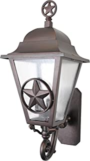 Melissa Lighting LS179063 Western Outdoor Wall Mount from Lone Star Series Collection in Bronze/Darkfinish