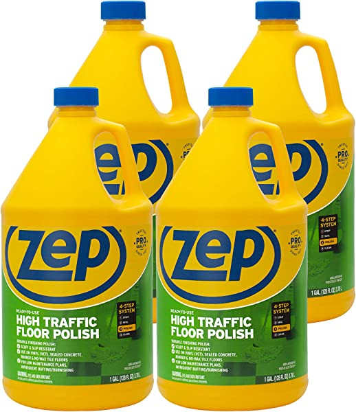 Zep 高流量地板抛光 128 盎司 ZUHTFF128 4 箱