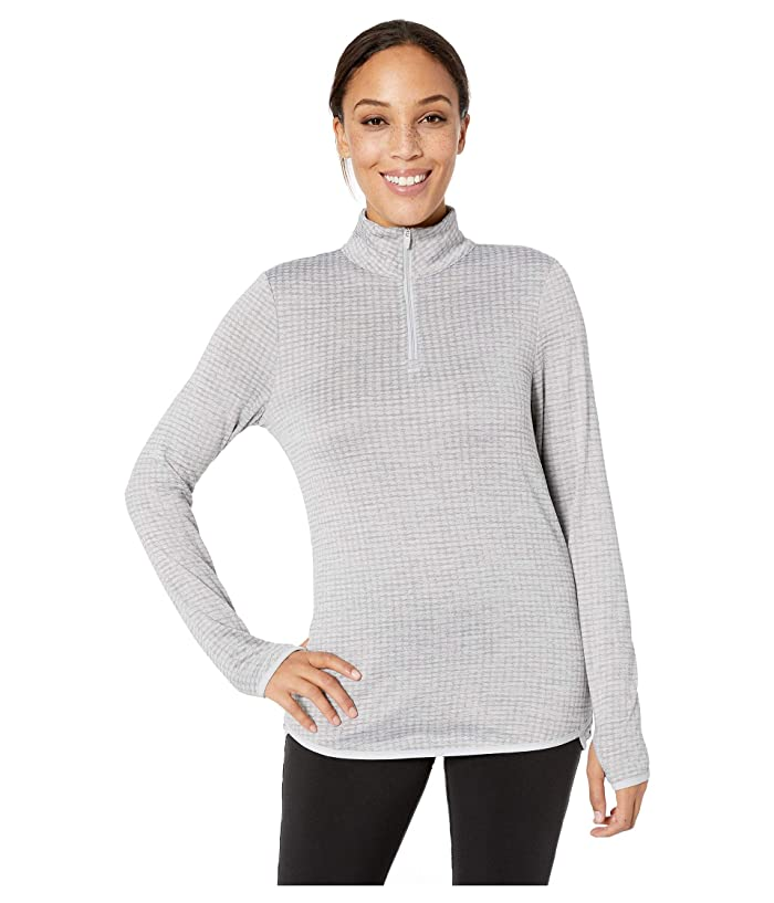 Jockey Active Circle Back 1/4 Zip Top (Light Grey) Women