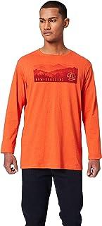 Ternua Grunda Camiseta, Hombre, Rojo (Deep Burnt Melange), L
