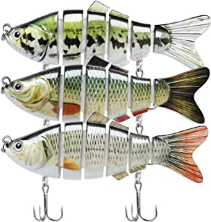 TRUSCEND Fishing Lures for Bass Trout Segmented Multi...