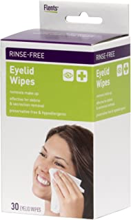 Flents Makeup Remover Wipes, 30 Count, Wipes for Eyelides and Eyes, Individually Packaged, Ideal for Travel, Hypoallergenic