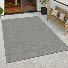 In-& Outdoor Vloerkleed Keukenvloerkleed Eenkleurig Sisal Look Modern Grijs, Maat:200x280 cm