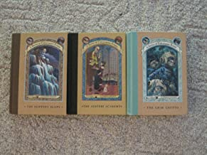 Books 5, 10 and 11 of A Series of Unfortunate Events (The Grim Grotto; The Austere Academy; The Slippery Slope)