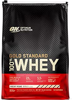 Optimum Nutrition Gold Standard 100% Whey Protein, Rocky Road, 10 Pound