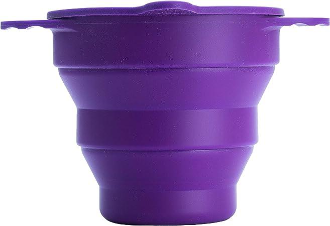 Ruby Clean - Vaso esterilizador plegable de silicona para copa menstrual – Se ajusta a la mayoría de copas menstruales – Se utiliza en ...