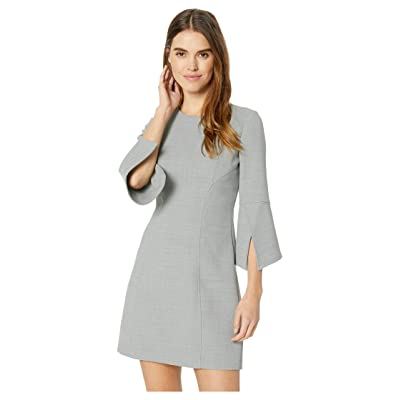 Badgley Mischka Split Sleeve Dress (Heather Grey) Women