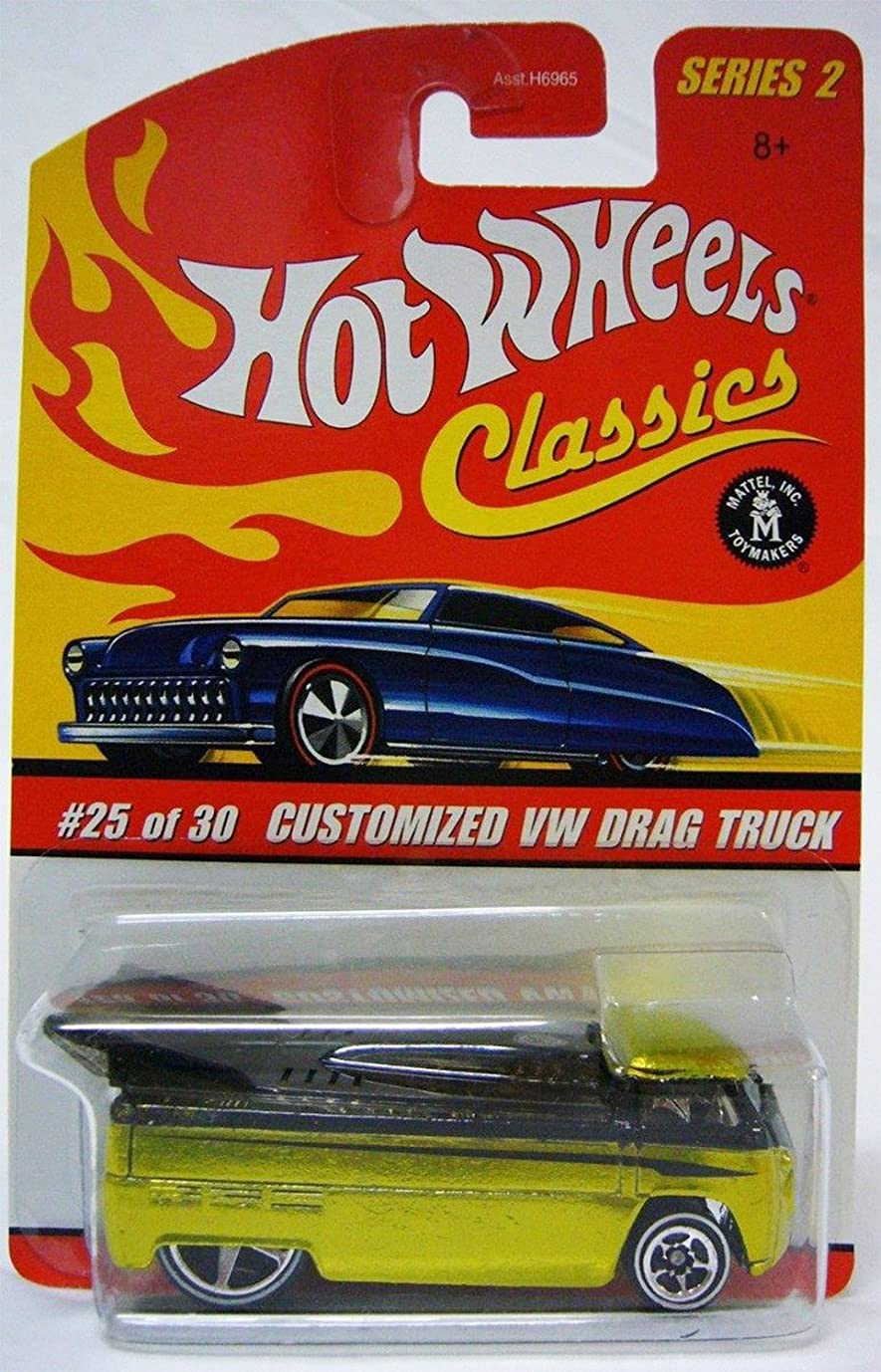 ビュッフェピッチシェアHot Wheels Classics Series 2 Customized Green/White VW Drag Truck 25/30 Collector Car