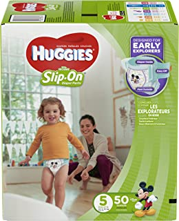 Huggies Little Movers Slip-On Diapers, Size 5, 50 Count