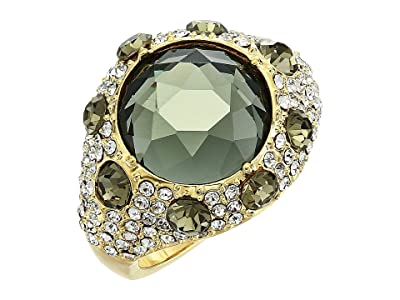 Vince Camuto Round Pave Rings (Gold/Crystal/Black Diamond) Ring