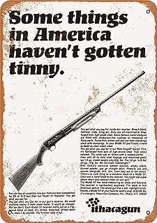 Mariner 1968 Ithaca Shotguns Aluminum Funny Aluminum Funny Art Decor Movie Poster Vintage Tin Sign Dorm Game Room 12 X 8 in