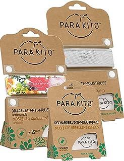 Parakito - PROTECCION NATURAL ANTIMOSQUITO - KIT 2 x Para'kito PULSERA repelente de mosquitos( Verde y Blanco) + 1 x Recarga Para'kito Para Pulsera