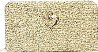 RapidCostore Golden Designer Bridal Wedding Party Wallet Clutch Handbag Purse For gift Women Girls Ladies Gifting RC-1211