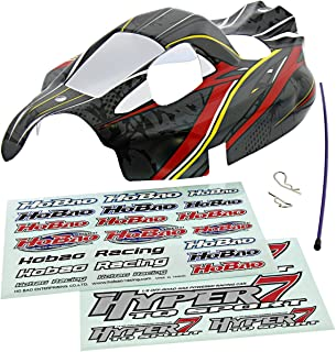 Hobao 1/8 Hyper 7 TQ Ofna Gray, RED & Yellow Body & Decals Shell Cover Tube