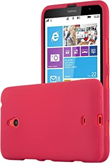 Cadorabo Case Works with Nokia Lumia 1320 in Frost RED – Shockproof and Scratch Resistant TPU Silicone Cover – Ultra Slim Protective Gel Shell Bumper Back Skin