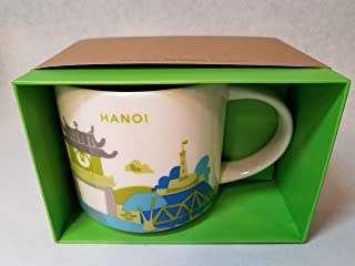 Starbucks You Are Here mug, Hanoi Vietnam, 14oz