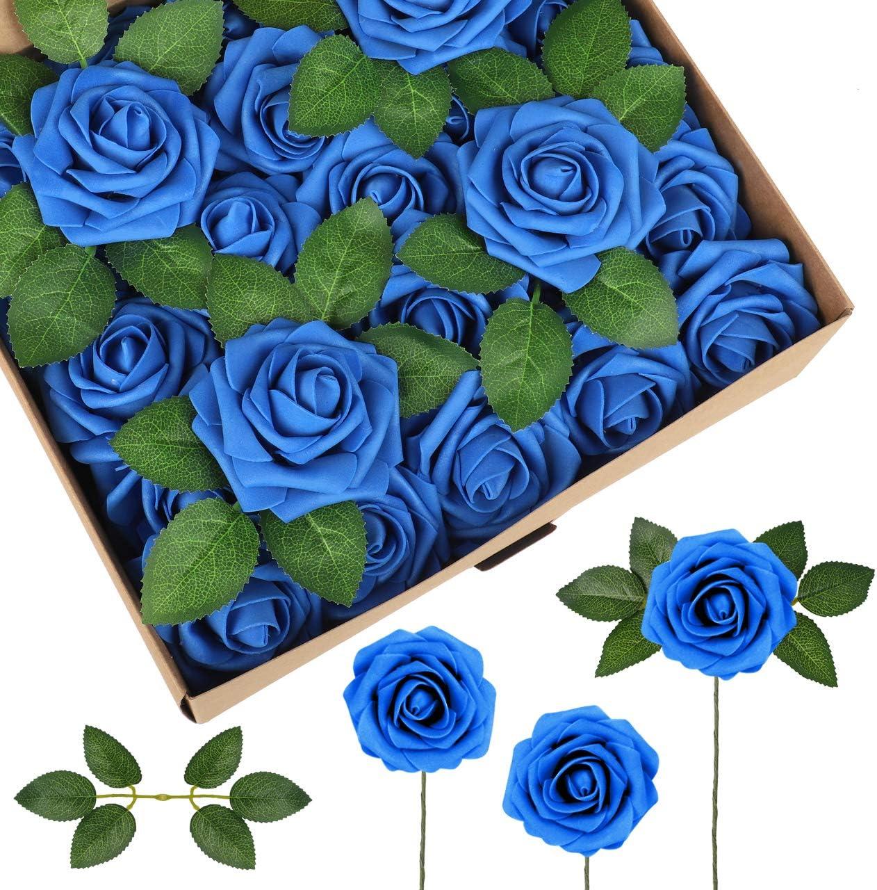 Flores artificiales de espuma de latex. Pack de 50 (rosas A)