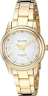 Sutton by Armitron Women's SU/1005WTGP Easy to Read Gold-Tone Bracelet Watch