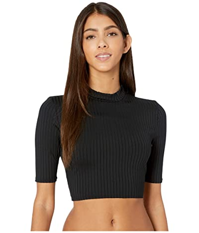 Roxy 3/4 Sleeved Cropped UPF 50 Rashguard (Anthracite) Women