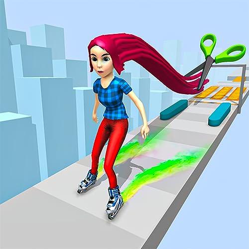 Sky Skate Long Hair Race 3D - Skater Run Challenge