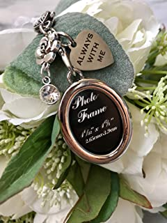Harper Olivia Silver Family Member Lost Remembrance Piece or Wedding Memorial Bouquet Charm Photo Always with You Wedding Memorial Gift