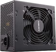 GOLDEN FIELD ARESZE 450W Semi Modular 80 Plus Bronze Power Supply ATX PC PSU with Low Noise Fan for Desktop Computer PC 450W